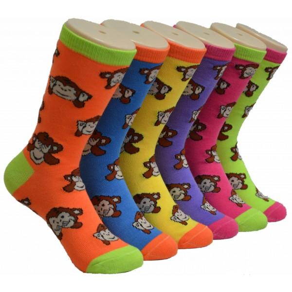 Ladies Crew Socks - EBCY-0126