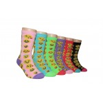 Girls' Crew Socks ,EKCG-6129