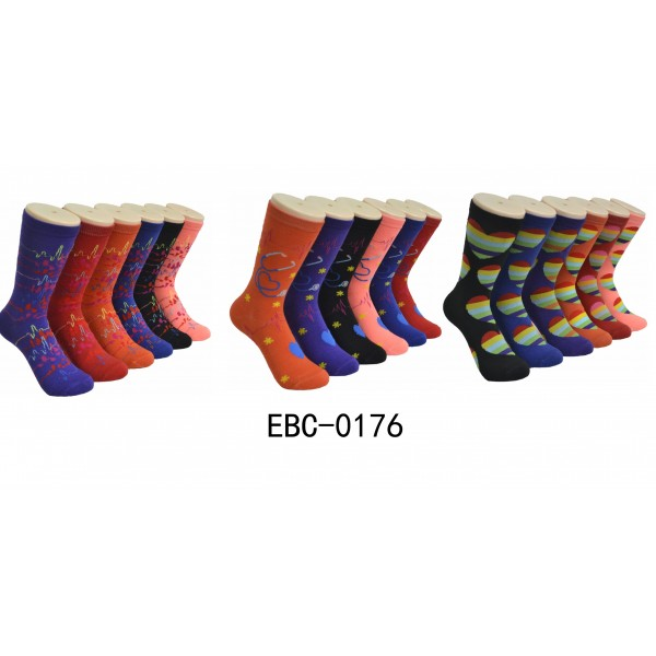 Ladies Crew Socks - EBC-0176 Mecial Series