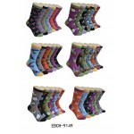 Ladies Crew Socks - EBC-9149 Bird Series