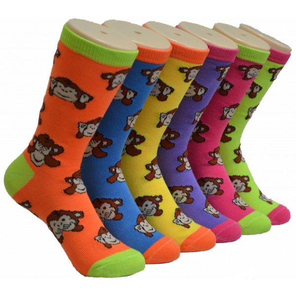 Ladies Crew Socks - EBC-0126
