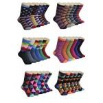 Ladies Crew Socks - EBCY-0145 Geometry Series