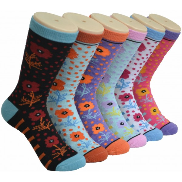 Ladies Crew Socks - EBC-0170