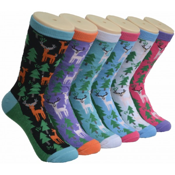 Ladies Crew Socks - EBC-0171