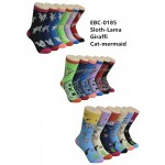 Ladies Crew Socks - EBC-0185