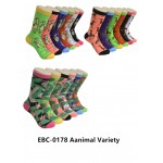 Ladies Crew Socks - EBC-0178