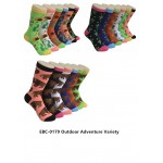 Ladies Crew Socks - EBC-0179