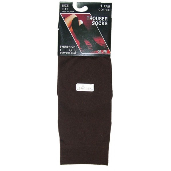 Ladies Trouser Socks - Size 9-11 - Coffee